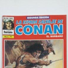 Cómics: LA ESPADA SALVAJE DE CONAN EL BARBARO. Nº 71. SERIE ORO - COMICS FORUM - SEGUNDA EDICION. TDKC47. Lote 194619480