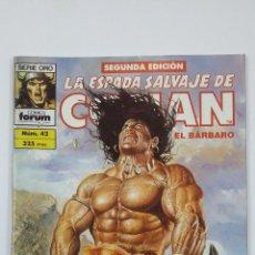 Cómics: LA ESPADA SALVAJE DE CONAN EL BARBARO. Nº 42. SERIE ORO - COMICS FORUM - SEGUNDA EDICION. TDKC47. Lote 194619511
