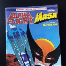 Cómics: TOMO RETAPADO ALPHA FLIGHT LA MASA 54 55 56 COMICS FORUM. Lote 194652290
