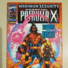 Cómics: PATRULLA-X ESPECIAL MAXIMUM SECURITY - GRAPA MARVEL - FORUM. Lote 194739750