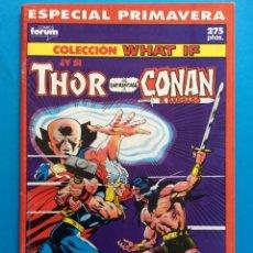 Cómics: ESP. PRIMAVERA 1990 - COLECCIÓN WHAT IF VOL.1 FORUM - THOR / CONAN. Lote 194756778