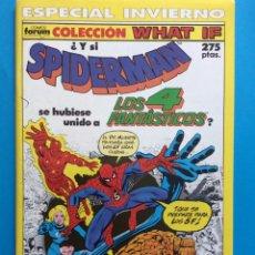 Cómics: ESP. INVIERNO 1990 - COLECCIÓN WHAT IF VOL.1 FORUM - SPIDERMAN / 4 FANTÁSTICOS. Lote 194757353