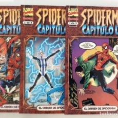 Cómics: LOTE 3 CÓMICS SPIDERMAN : CAPÍTULO UNO - COLECCIÓN COMPLETA FORUM. Lote 194757815