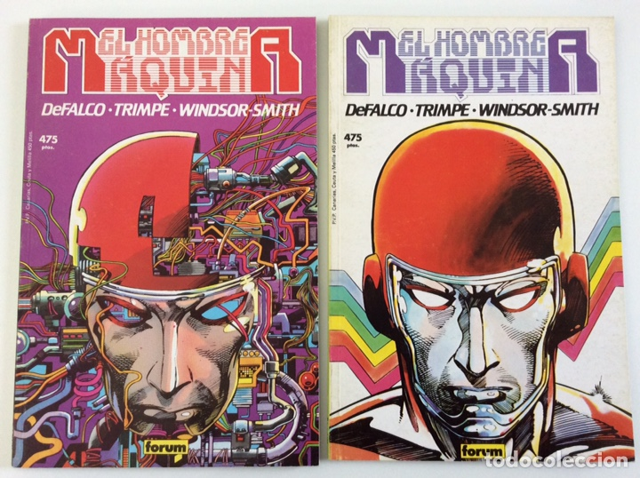 N º 11 Y N º 13 - EDICIÓN PRESTIGIO CÓMICS FORUM - EL HOMBRE MÁQUINA 1 Y 2 (Tebeos y Comics - Forum - Prestiges y Tomos)