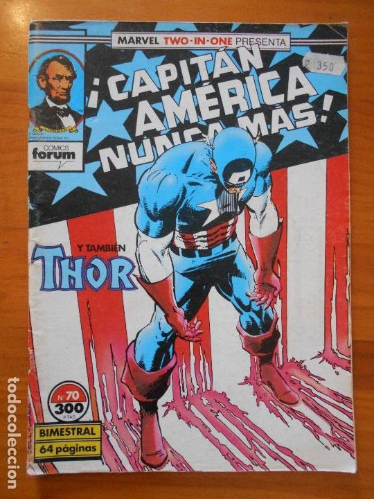 CAPITAN AMERICA THOR - MARVEL TWO-IN-ONE - Nº 70 - INCLUYE POSTER - FORUM (S) (Tebeos y Comics - Forum - Capitán América)