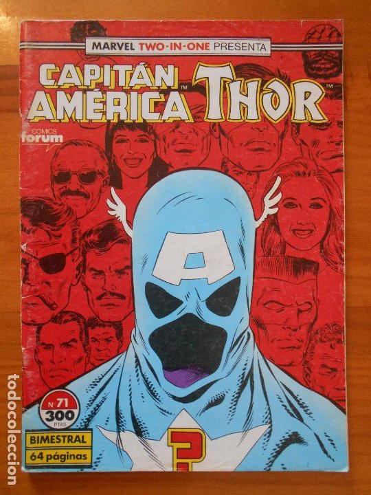 CAPITAN AMERICA THOR - MARVEL TWO-IN-ONE - Nº 71 - INCLUYE POSTER - FORUM (S) (Tebeos y Comics - Forum - Capitán América)