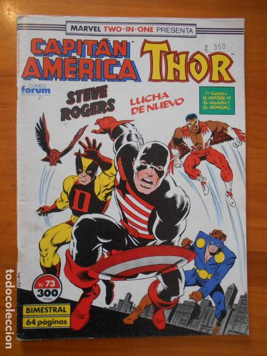 CAPITAN AMERICA THOR - MARVEL TWO-IN-ONE - Nº 73 - INCLUYE POSTER - FORUM (S) (Tebeos y Comics - Forum - Capitán América)