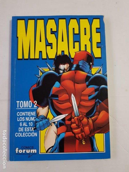 MASACRE TOMO 2 COMICS FORUM ESTADO BUENO MAS ARTICULOS (Tebeos y Comics - Forum - Retapados)