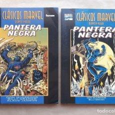 Cómics: CLÁSICOS MARVEL BLANCO Y NEGRO - PANTERA NEGRA 1 Y 2 COMPLETA - FORUM - JMV. Lote 195110495