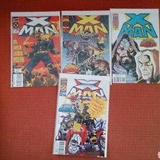 Cómics: X MAN 4 NUMEROS GRAPA COMPLETA LA ERA DE APOCALIPSIS MARVEL FORUM NUEVAS. Lote 195202878