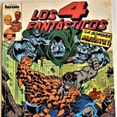 Cómics: LOS 4 FANTASTICOS Nº 86, 87, 88, 89 Y 90 - RETAPADO - COMICS FORUM - TAPA BLANDA. Lote 195276195