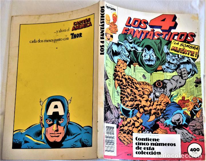 Cómics: LOS 4 FANTASTICOS Nº 86, 87, 88, 89 Y 90 - RETAPADO - COMICS FORUM - TAPA BLANDA - Foto 2 - 195276195