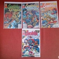 Cómics: GAMBITO Y LOS EXTERNOS 4 NUMEROS COMPLETO LA ERA DE APOCALIPSIS X MEN MARVEL FORUM. Lote 195303730