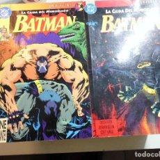 Cómics: LA CAIDA DEL MURCIELAGO BATMAN 2 TOMOS KNIGHTFALL DC ZINCO. Lote 195525360
