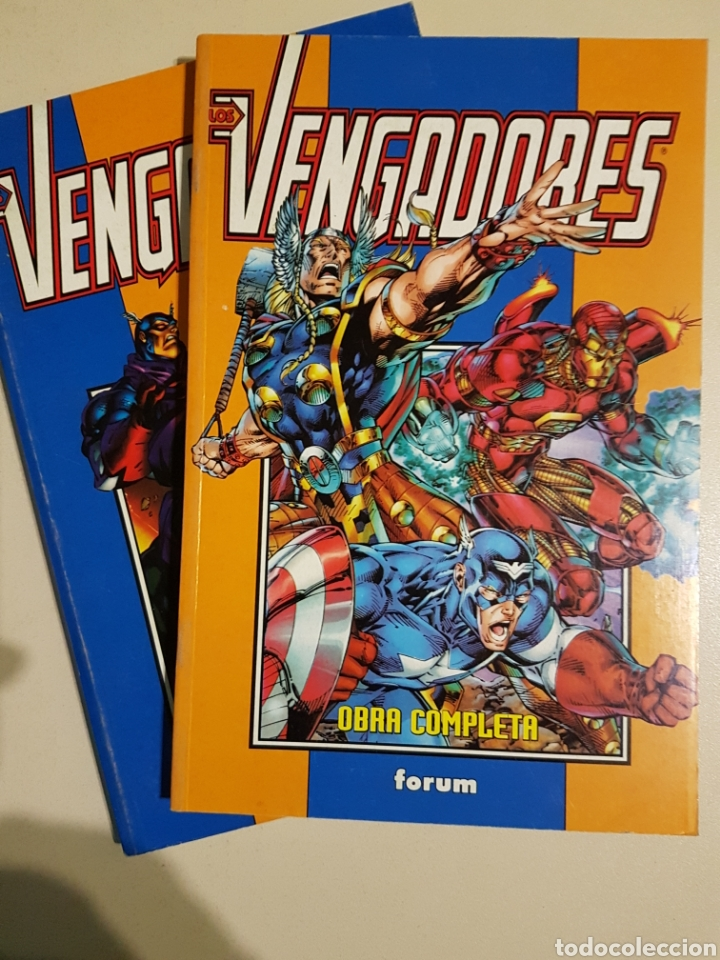 LOS VENGADORES HEROES REBORN RETAPADO TOMO 1 Y 2 - OBRA COMPLETA MARVEL FORUM (Tebeos y Comics - Forum - Retapados)