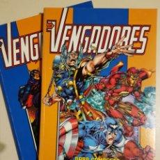 Cómics: LOS VENGADORES HEROES REBORN RETAPADO TOMO 1 Y 2 - OBRA COMPLETA MARVEL FORUM. Lote 195675488