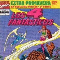 Cómics: LOS 4 FANTASTICOS - EN BUSCA DE KORVAC . 1ª PARTE - EXTRA PRIMAVERA - FORUM. Lote 196191941