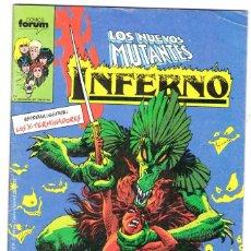 Cómics: INFERNO Nº 11 CON LOS NUEVO MUTANTES - MARVEL - FORUM -. Lote 197208300