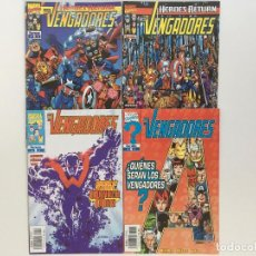 Cómics: HEROES RETURN: LOS VENGADORES 1, 2, 3 Y 4 DE KURT BUSIEK Y GEORGE PEREZ. FORUM.. Lote 198132050