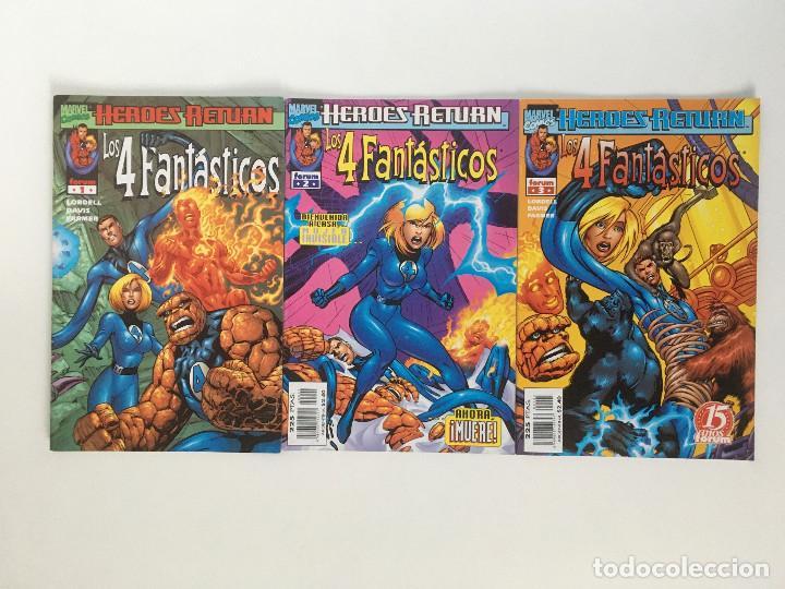 HEROES RETURN: LOS 4 FANTASTICOS 1, 2 Y 3 DE SCOTT LOBDELL, ALAN DAVIS Y MARK FARMER. FORUM. (Tebeos y Comics - Forum - 4 Fantásticos)