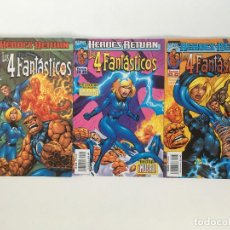 Cómics: HEROES RETURN: LOS 4 FANTASTICOS 1, 2 Y 3 DE SCOTT LOBDELL, ALAN DAVIS Y MARK FARMER. FORUM.. Lote 198132425