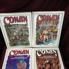 Cómics: CONAN N° 1, 2, 3, Y 4, ROY THOMAS BARRY WINDSOR- SMITH. Lote 198684211