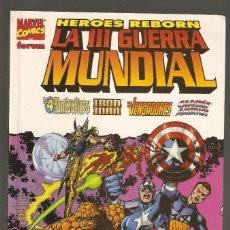 Comics : HEROES REBORN: LA III GUERRA MUNDIAL - SEPTIEMBRE 1998 - TOMO 112 PÁGINAS - FORUM -. Lote 198723521