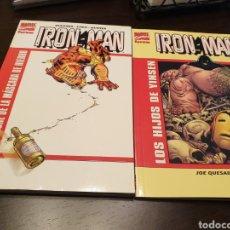 Cómics: IRON MAN: 2 TOMOS EL HOMBRE DE LA MÁSCARA DE HIERRO Y LOS HIJOS DE YINSEN. Lote 198925452