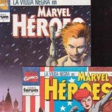 Comics: MARVEL HEROES NUMEROS 70 Y 71 FORUM. NOVELA GRAFICA DE LA VIUDA NEGRA: LA GUERRA MAS FRIA. . Lote 199919981