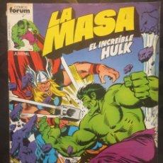 Cómics: LA MASA EL INCREÍBLE HULK VOL.1 N.5 CUIDADO CON LOS U-FOES . ( 1983/1986 ).. Lote 202879300