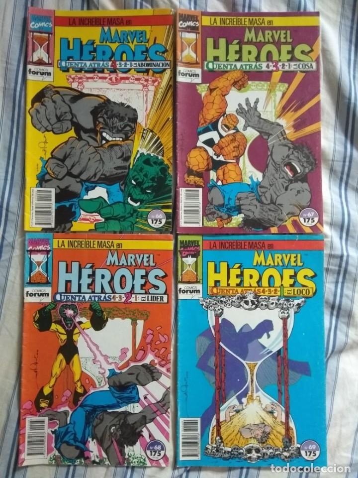 MARVEL HÉROES LA MASA: CUENTA ATRÁS Nº 66, 67, 68, 69 COMPLETA - FORUM (Tebeos y Comics - Forum - Hulk)