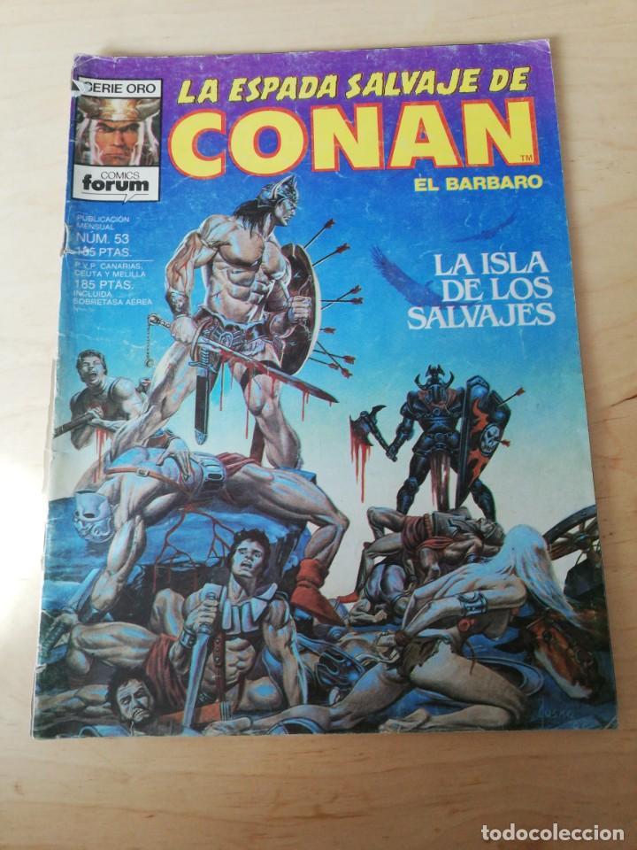 LA ESPADA SALVAJE DE CONAN. NÚMERO 53. LOMO RASGADO. (Tebeos y Comics - Forum - Conan)