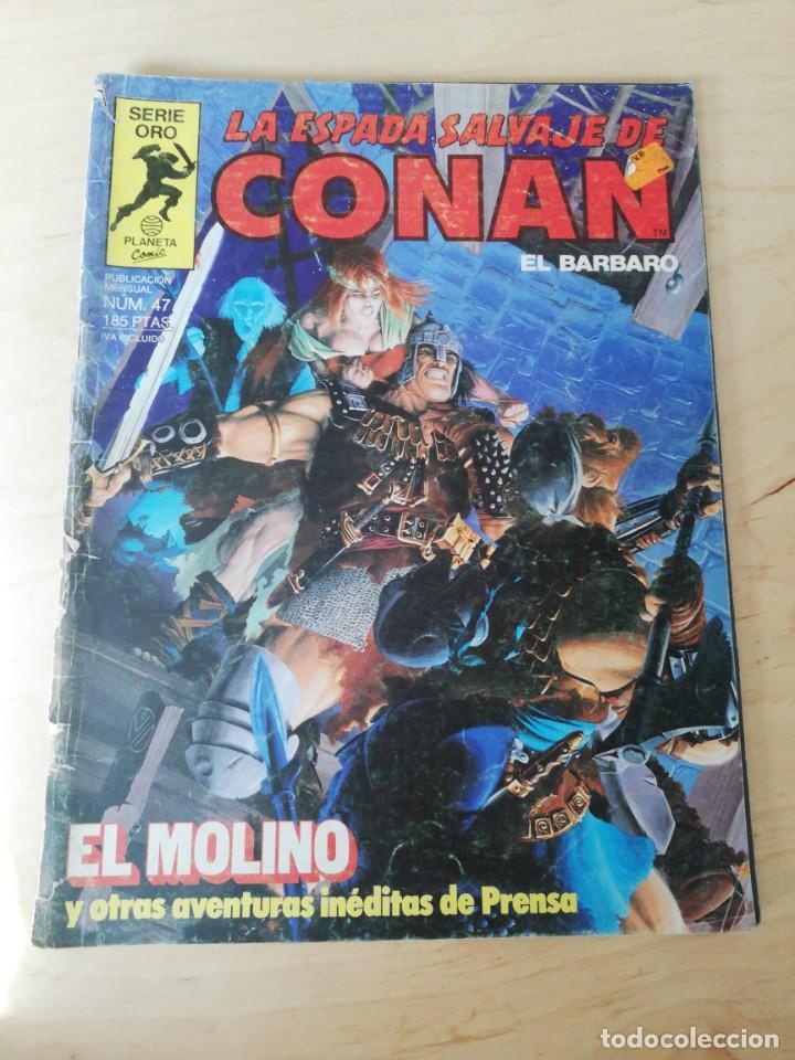 LA ESPADA SALVAJE DE CONAN. NÚMERO 47. DETERIORADO. (Tebeos y Comics - Forum - Conan)