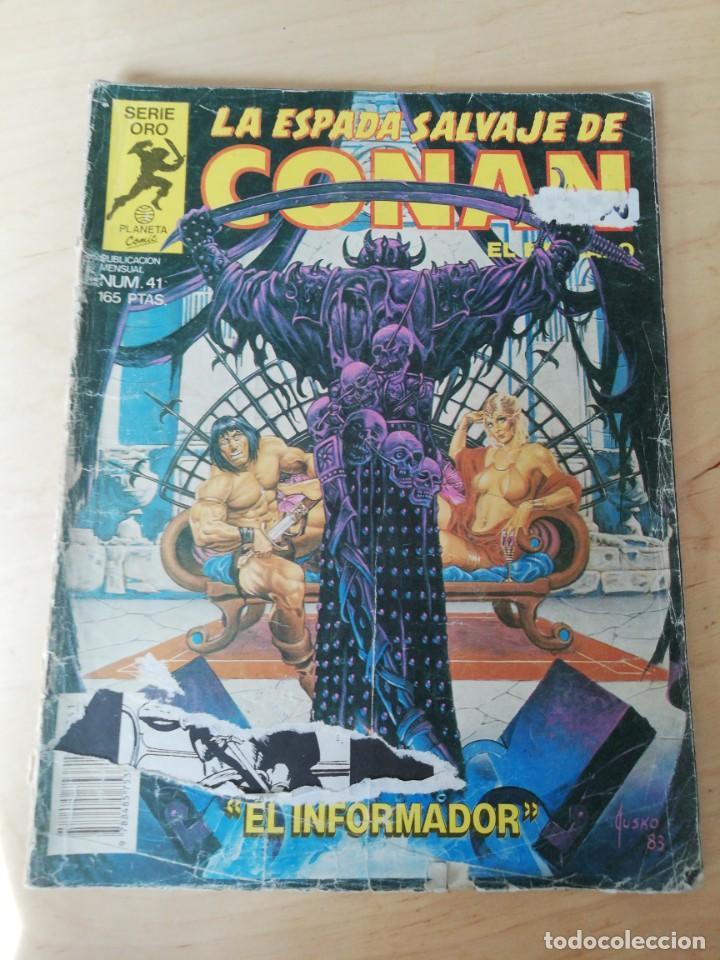 LA ESPADA SALVAJE DE CONAN. NÚMERO 41. MUY DETERIORADO. (Tebeos y Comics - Forum - Conan)