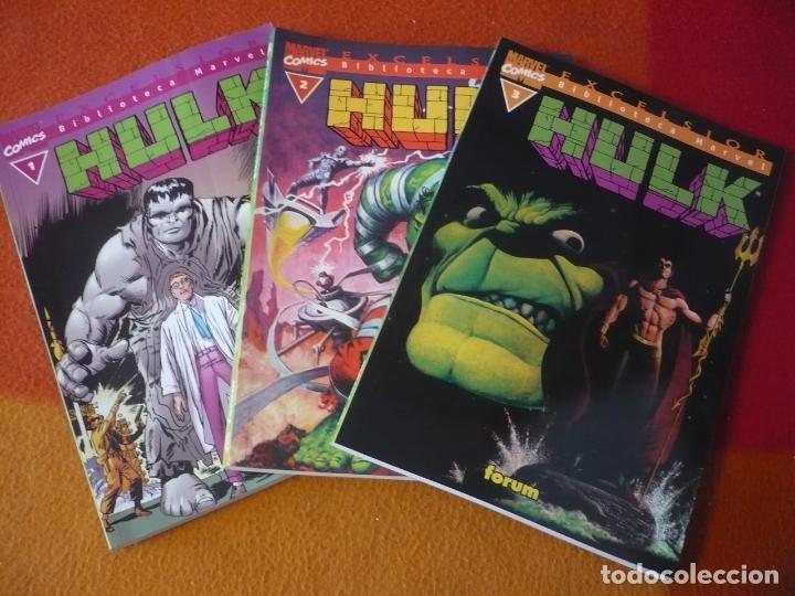 HULK NºS 1, 2 Y 3 BIBLIOTECA MARVEL ( DOUG MOENCH ) ¡BUEN ESTADO! FORUM MARVEL (Tebeos y Comics - Forum - Hulk)