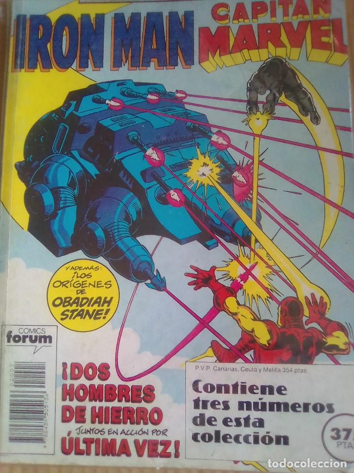 IRON MAN CAPITAN MARVEL RETAPADO / PILA 3 (Tebeos y Comics - Forum - Retapados)
