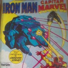 Cómics: IRON MAN CAPITAN MARVEL RETAPADO / PILA 3. Lote 204191388