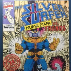Cómics: THE SILVER SURFER Nº 1 - SILVER SURFER VS THANOS - FORUM. Lote 204198177