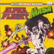 Cómics: CÓMIC MARVEL TWO-IN ONE ` ALPHA FLIGHT / LA MASA ´ Nº 45 ED.FORUM 1985 CON 64 PGS.. Lote 204625507