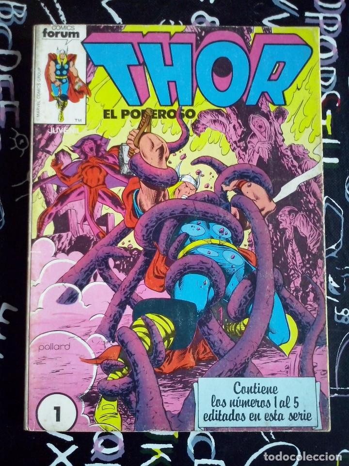 FORUM - THOR VOL.1 RETAPADO CON LOS NUM. 1 AL 5. BUEN ESTADO (Tebeos y Comics - Forum - Thor)