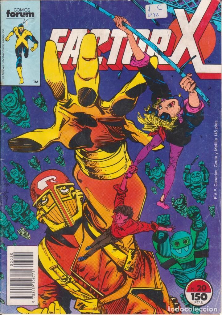 CÓMIC MARVEL ` FACTOR X ´ Nº 20 ED.PLANETA / FORUM 1989 (Tebeos y Comics - Forum - Factor X)