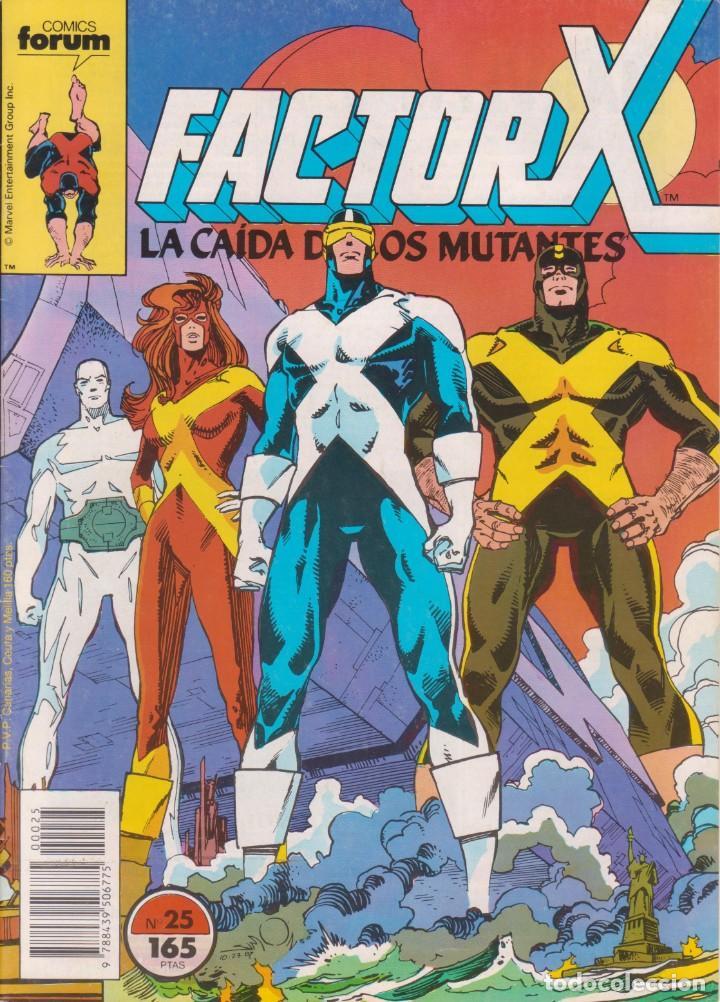 CÓMIC MARVEL ` FACTOR X ´ Nº 25 ED.PLANETA / FORUM 1989 (Tebeos y Comics - Forum - Factor X)