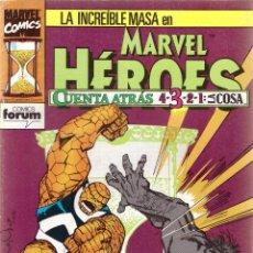 Cómics: COMIC MARVEL HEROES, Nº 67: LA MASA - CUENTA ATRÁS 3: LA COSA. Lote 205158427