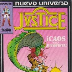 Cómics: CÓMIC ` JVSTICE ´ Nº 3 NUEVO UNIVERSO MARVEL. ED.FORUM. Lote 205179715