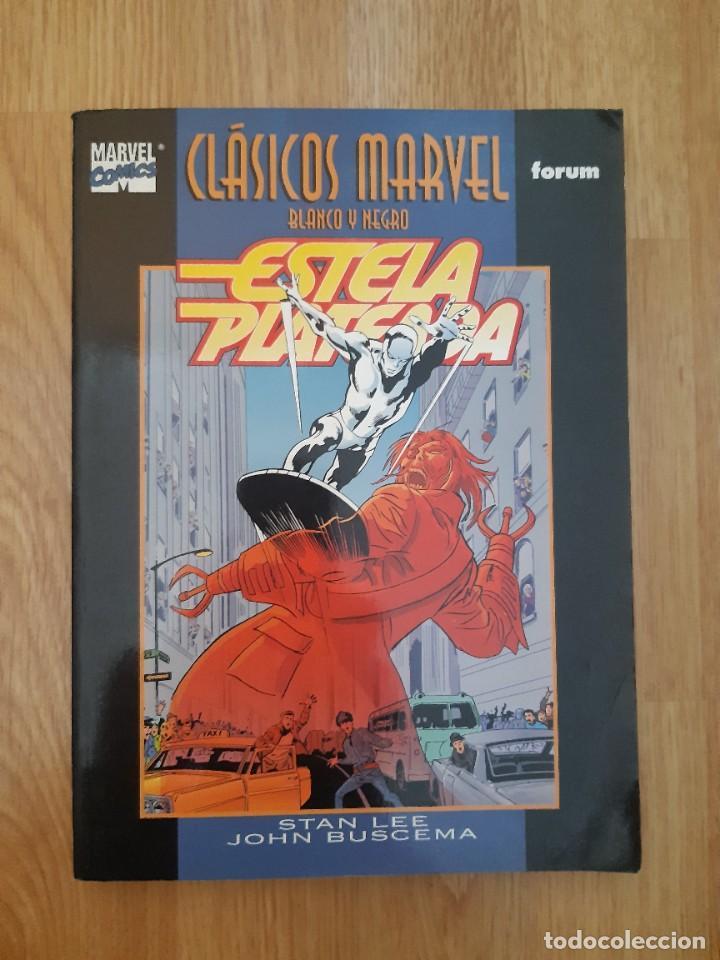 ESTELA PLATEADA,MARVEL,FORUM,CLASICOS EN BLANCO Y NEGRO (Tebeos y Comics - Forum - Silver Surfer)