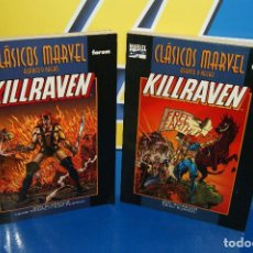 Cómics: LOTE 2 TOMOS COMICS CLASICOS MARVEL-KILLRAVEN-MARVEL B/N COLECCION COMPLETA. Lote 205606497