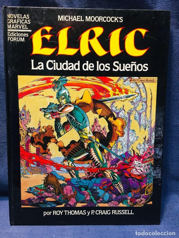 ELRIC LA CIUDAD DE LOS SUEÑOS ROY THOMAS P. CRAIG RUSSELL NOVELAS GRÁFICAS MARVEL 3 EDICIONES FORUM (Tebeos y Comics - Forum - Otros Forum)