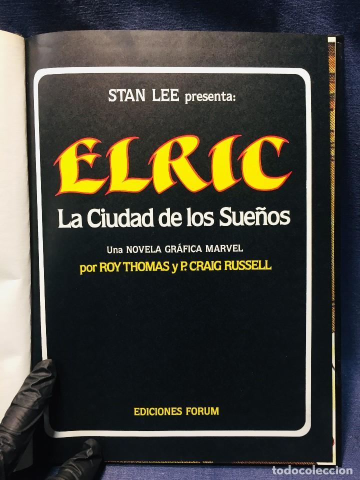 Cómics: ELRIC LA CIUDAD DE LOS SUEÑOS ROY THOMAS P. CRAIG RUSSELL NOVELAS GRÁFICAS MARVEL 3 EDICIONES FORUM - Foto 4 - 206155883
