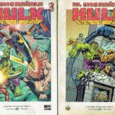 Cómics: EL INCREIBLE HULK N,,2,3. GRANDES HEROES DEL COMIC BIBLIOTECA EL MUNDO AÑO 2003. Lote 206205231