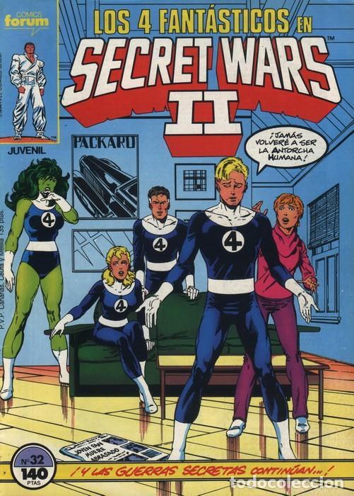 SECRET WARS II VOL.1 Nº 32 - FORUM. LOS 4 FANTASTICOS. (Tebeos y Comics - Forum - 4 Fantásticos)